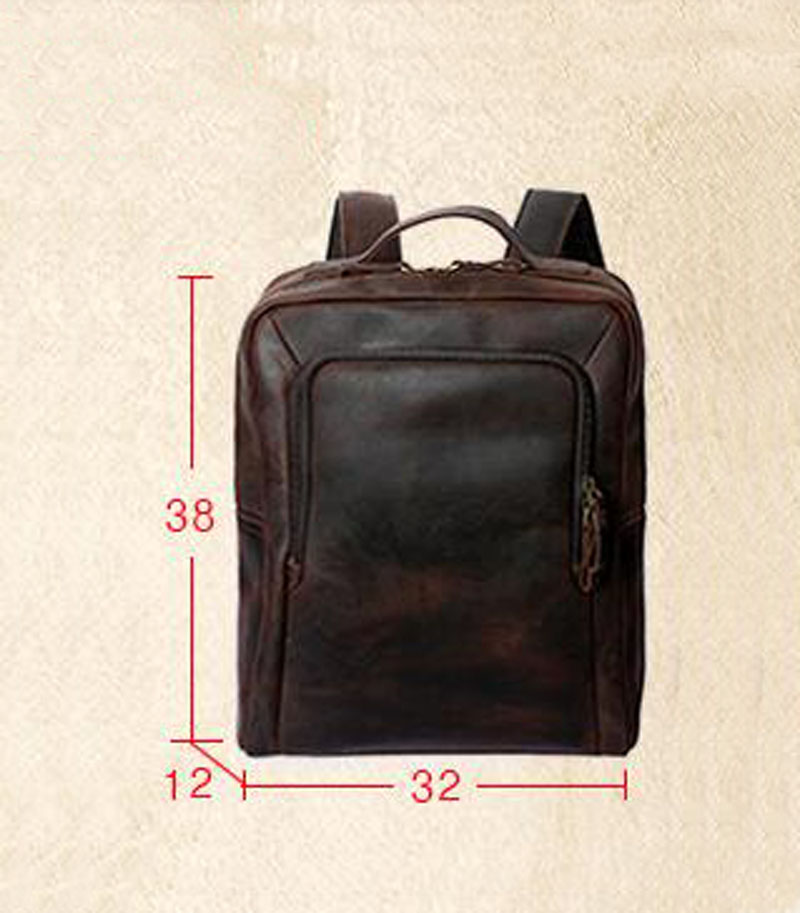 d5bb86402a40 AETOO Men s shoulders foreskin backpack leather shoulder computer bag crazy  horse leather man bag retro-in Backpacks from Luggage   Bags on  Aliexpress.com ...
