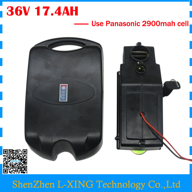 Free customs duty 36V Electric Bike battery 36V 17.4AH Lithium battery use Panasonic 2900MAH cell 15A BMS with 42V 2A Charger us eu free customs duty lithium 48v 1000w e bike battery 48v 17ah for original panasonic 18650 cell with 5a charger 30a bms