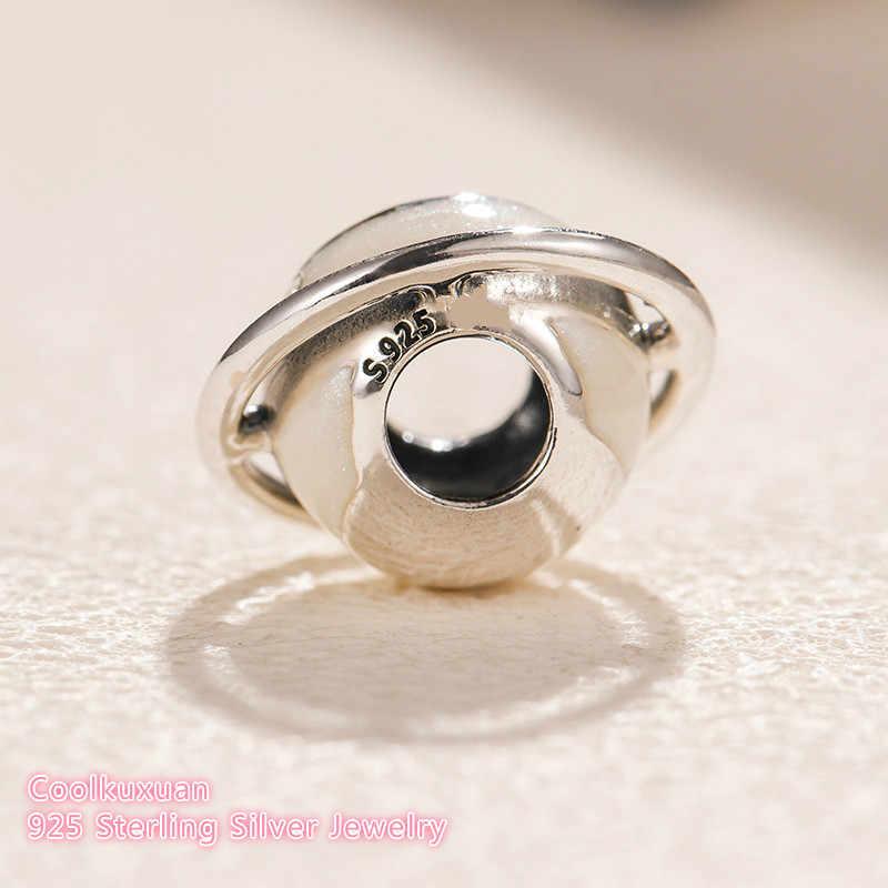 01813b74d 2018 Winter Original 100% 925 Sterling Silver Planet of Love Charm, Silver  Enamel beads