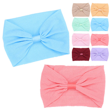 21 Colors Newborn Candy Headband Cross Knot Hair Accessories Toddler Infant Turban Headwear wedding party barrettes headwrap