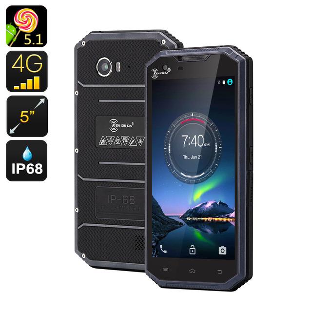 Kenxinda W7 Original IP68 A Prueba de agua Teléfono Móvil 4G Smartphone Android Resistente ultra fino Delgado Prueba de Golpes MTK6735 Quad Core