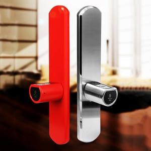 Image 4 - 2020 New Design L5SR Plus Home Intelligent Smart Cylinder Bluetooth Electronic Fingerprint Cylinder Digital Door Lock