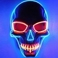 EL Masks Halloween Multi style Skull Mask luminous helmet Fire Festival LED Glowing Party DJ dance Carnival Masks accessories