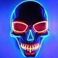 El маски хэллоуин мультистиль череп маска световой своих фестиваль из светодиодов светящийся ну вечеринку DJ танец карнавальные маски аксессуары