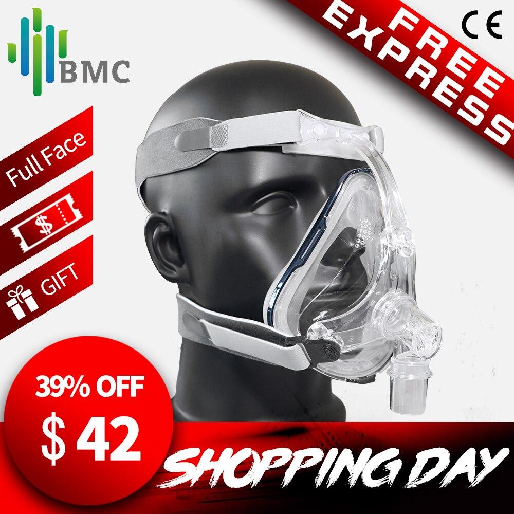 BMC FM1 Plein Visage Masque Pour Ronflement S'appliquent À Médical CPAP BiPAP Silicone Gel Matériel Taille S/M/ L Avec Coiffe Clip Livraison Gratuite