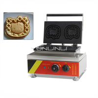Commercial Waffle Maker Kitty Shape Cake Machine Cartoon Pattern Waffle Baker Electric Pancake Machine NP 524