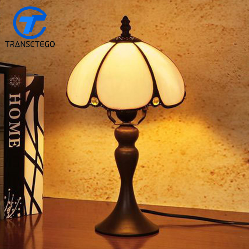 hand drawing vintage desk lamp bedside glass lampshade table lamp dimmable desk light reading room night light indoor brief solid oak wood textile desk lamp fabrics lampshade table light bedroom bedside warm lampara night light luminaria