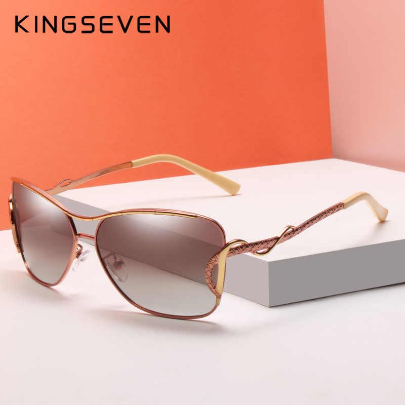 KINGSEVEN Оригинал 2018 дизайн Солнцезащитные очки женские кошачий глаз уникальная известность фирменный дизайнер солнечные очки для вождения оттенки Oculo