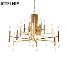 2017 fashion LED chandelier Nordic postmodern contracted designer bedroom lighting art lustre restaurant