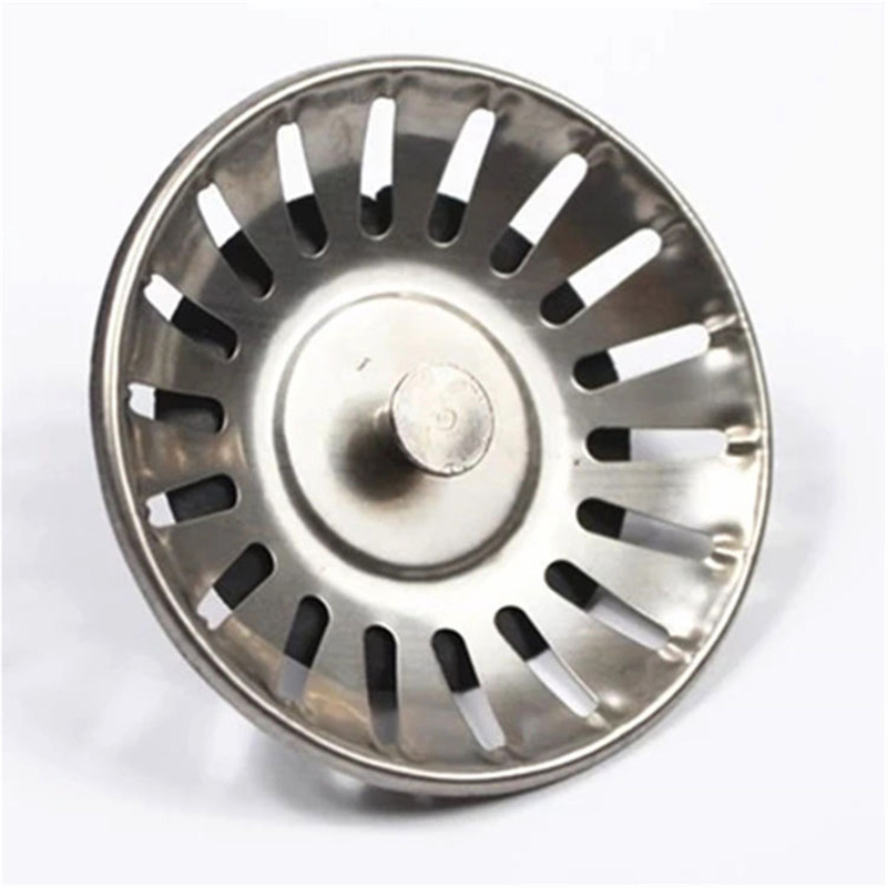 High Quality Stainless Steel Kitchen Sink Strainer Stopper Practical Mesh Waste Plug Sink Filter Bathroom Hair Catcher