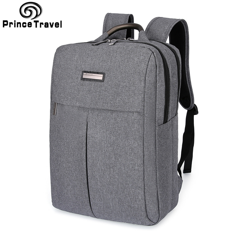 Prince Travel Offical Business Backpack Quality 15 16 Inch Laptop Backpack School Bag For Teenagers Men'S Travel Bag Daypack voyjoy t 530 travel bag backpack men high capacity 15 inch laptop notebook mochila waterproof for school teenagers students