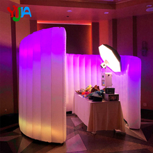 цены Nice Spiral Inflatable Photo Wall Backdrop Stand with LED Strips Color Changing Lights and Inner Air Blower for Weddings Party