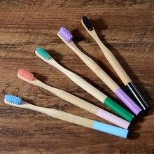 Bambusová zubná kefka 16farieb Eco Friendly Bamboo Toothbrush Holder Tube