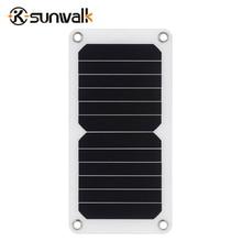 Sunwalk 5 В 6.5 Вт Портативный Солнечный Панель Зарядное устройство sun power солнечных батарей модуль Мощность Bank Зарядка для Iphone мобильный