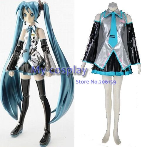 Vocaloid Miku Hatsune Female Cosplay Costume(7 Sets) Halloween Costumes Party Dress --  sc 1 st  AliExpress.com & Vocaloid Miku Hatsune Female Cosplay Costume(7 Sets) Halloween ...