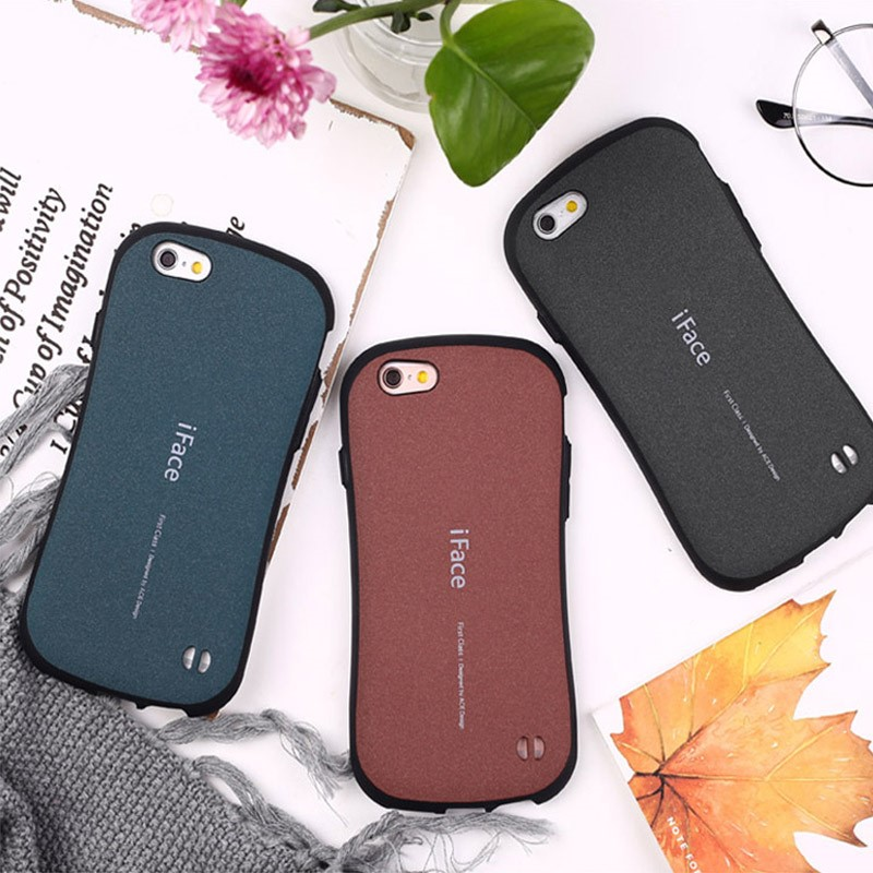 For Iphone 6 7 6S 7 8 Plus 10 Cases Iface ACE PC Matte TPU Shock Proof Frosted Back Cover Hard Shell Coque For Iphone X Case