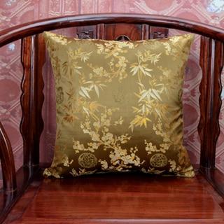 Элегантный квадратный сплошной цвет хлопка отель Банные полотенца чехол шелковые наволочки для подушек размером 45*45, декоративная кресла диван-подушка для поддержки поясницы китайская обложка подушки - Цвет: Коричневый