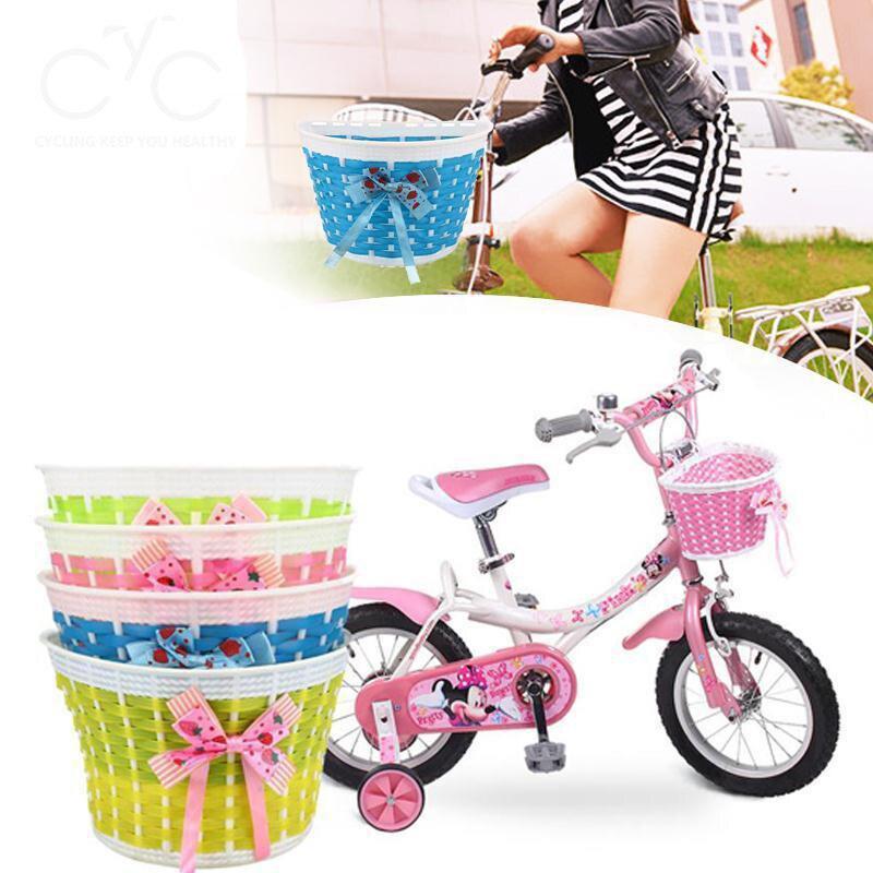 Bicycle Basket Front Bag Rear Hanging Basket /'Panniers Bike Bowknot Front Basket