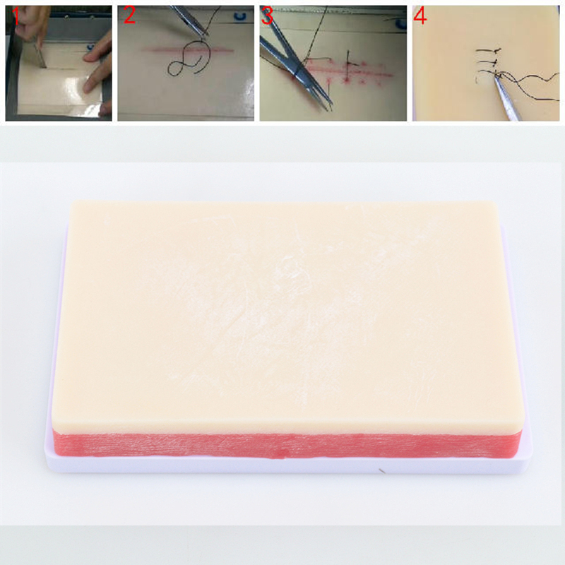 Surgical Suture Practice Module Surgical Practice Skin Silica Gel Model Silica Gel Suture Module Medical Teaching LPF008