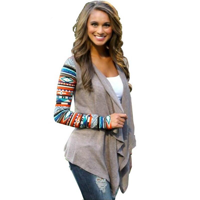 683da2bb2a Women Cardigans Sweater Air Conditioning Asymmetrical Cardigan Shirt Women  Knitted Sweater Casual Aztec Long Sleeve Striped Tops