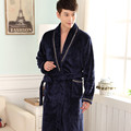Autumn Winter Bathrobes For Men's Long Sleeve Flannel Robe Male Sleepwear Lounges Man Homewear Pyjamas L White Robe Xl Xxl Xxxl
