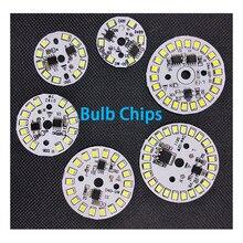 10 ピース/ロットドライバ集積 LED チップ Smd 電球 220 12V 入力直接スマート IC DIY 3 ワット 5 ワット 7 ワット 9 ワット 12 ワットダウンライトスポットライト