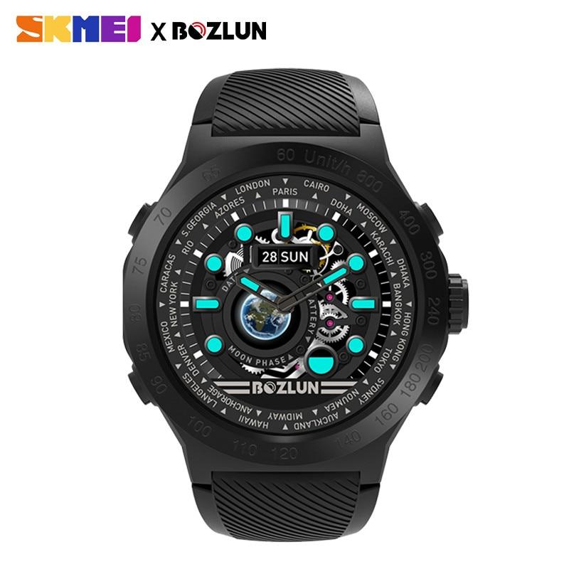 33f55e9ee9c6 Azul del reloj SKMEI moda hombres y mujeres reloj inteligente al aire libre  deporte reloj de pulsera impermeable saludable recordatorio relojes  multifunción ...