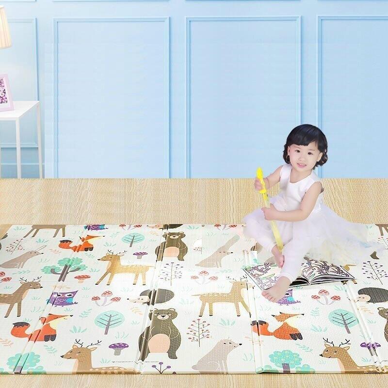 150X200cm tapis de jeu pour bébé Xpe Puzzle tapis pour enfants épaissi Tapete Infantil Gym bébé chambre ramper Pad tapis pliant pour enfants