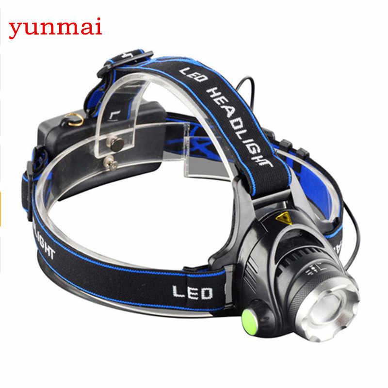 Led-scheinwerfer CREE XML T6 3800LM scheinwerfer wiederaufladbare stirnlampe Kopf Licht Lampe 3 Modi + 2*18650 Batterie + EU + Kfz-ladegerät