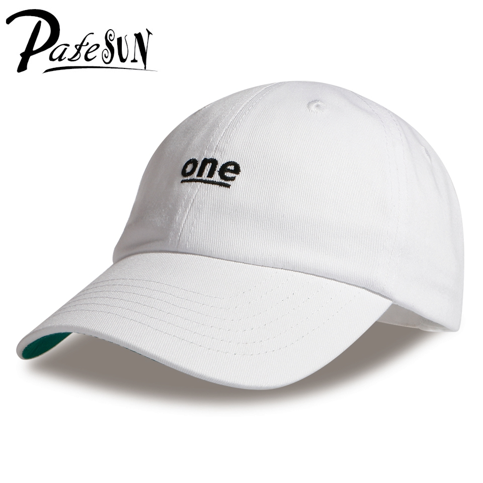 2017 Unisex ONE Letter Embroidery Baseball Caps Snapback Cotton Solid 5 Colors 6 Panel Women&Men sombreros mujer verano Dad Hat cntang summer embroidery letter w baseball cap fashion cotton snapback for men women trucker hat unisex casual caps gorras