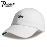 2016 Unisex ONE Letter Embroidery Baseball Caps Snapback Cotton Solid 5 Colors 6 Panel Women Men