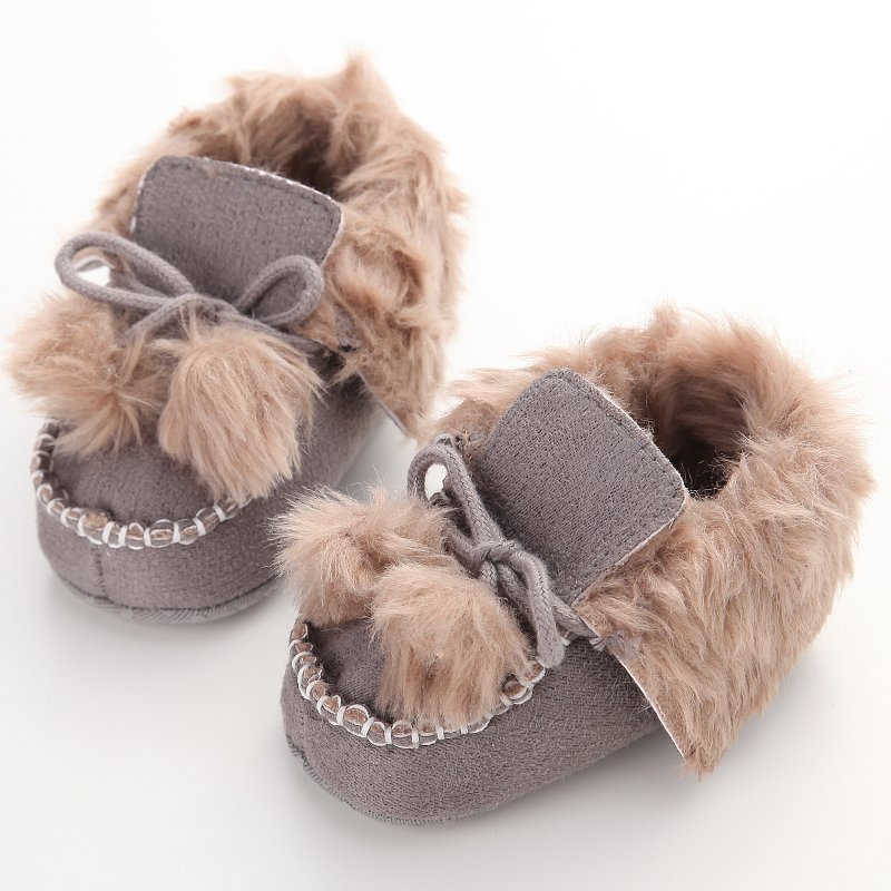 For Newborn Baby Shoes Infant Shoes Winter Soft Cotton Baby First Walker Baby Shoes Boy Toddler Keep Warm Thick shoes