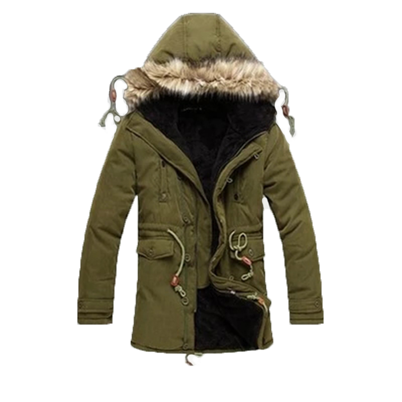 Winter Jacket Men Hooded Warm Casual Long Thick Padded Men's Parkas Outdoors Coat Plus Size Men's Clothing  M-XXXL 2016 new long winter jacket men cotton padded jackets mens winter coat men plus size xxxl