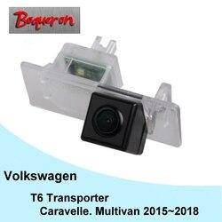 Dla vw T6 Transporter/Caravelle/Multivan 2015 ~ 2018 samochód CCD Night Vision kamera tylna kamera samochodowa tylna kamera cofania w Kamery pojazdowe od Samochody i motocykle na