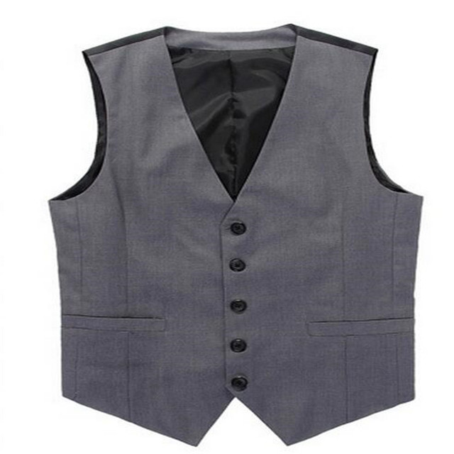 MEBOSYA Spring And Autumn Vests Mens Casual Formal Slim Fit Business Single Breasted Waistcoat V Neck Classic Jacket Tops