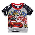 New Children T Shirts Summer Character Car  O-neck  T-shirt Boy  Camisa Menino T-shirt  6T026