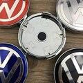 Alta qualidade 4x60mm azul/preto/prata centro de roda tampa aro hub cap emblema para vw volkswagen passat jetta golf emblemas do carro emblema