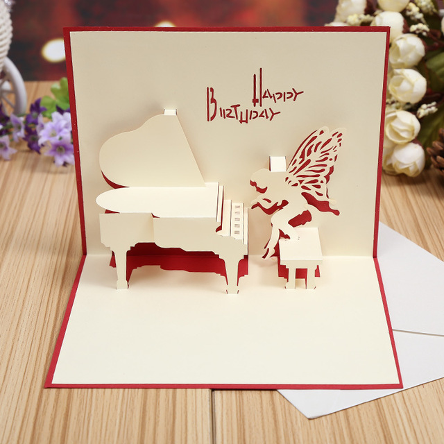 Manufacturers selling piano creative exquisite fairy stereo diy manufacturers selling piano creative exquisite fairy stereo diy handmade greeting card birthday cards hollow m4hsunfo