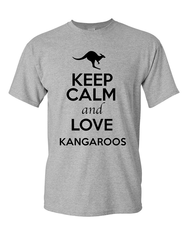 Design t shirt keep calm - Online T Shirts Design Keep Calm And Love Kangaroos Animal Lover Adult Men S Graphic O