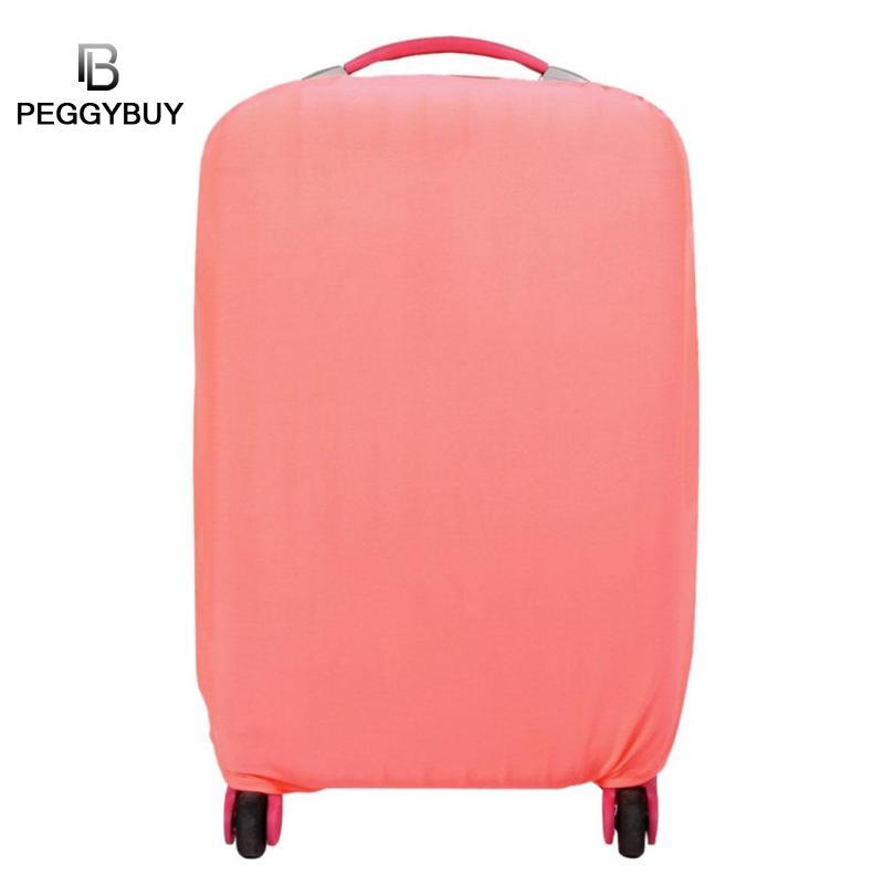 Простые эластичные Однотонная одежда Чемодан чехол тележки дорожного чемодана защитные с ...