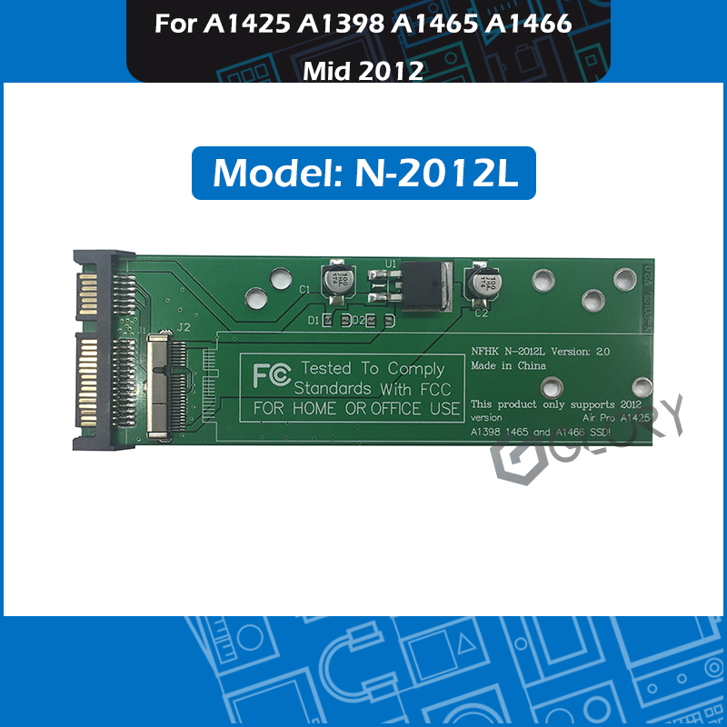 SSD Adapter Card for MacBook Air//Pro Retina 2012 A1465 A1466 HDD to 22Pin SATA