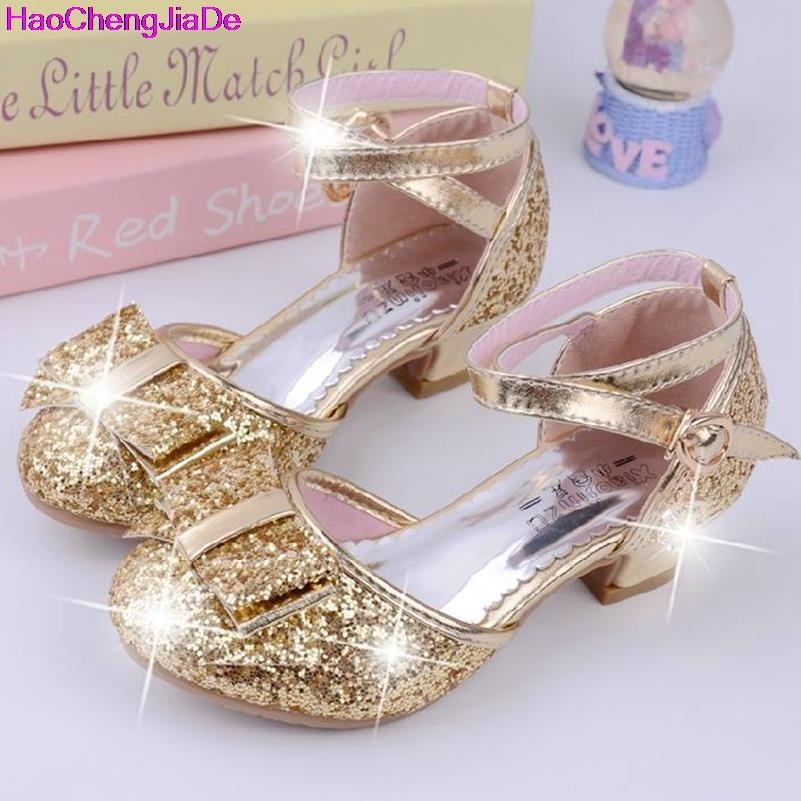 HaoChengJiaDe Sequins Girls Princess Shoes Kids Girls Sandals Wedding Party Shoes Ball Dancing Shoes Cinderella Costume Shoes 11
