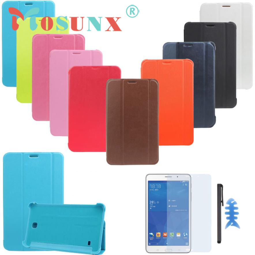 #AE PU Leather Case Stand Cover For Samsung Galaxy Tab 4 7Inch Tablet SM-T230 SM-T231+Film Pen Reel DEC 22