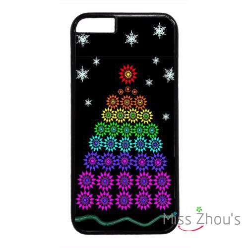 For iphone 4/4s 5/5s 5c SE 6/6s 7 plus ipod touch 4/5/6 cellphone cases cover Christmas Tree Rainbow LGBT Lesbian Gay Pattern