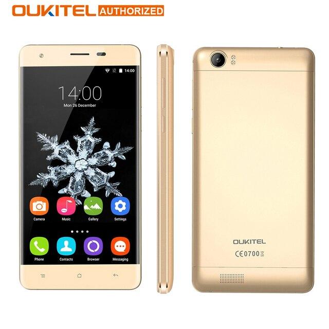 Оригинал OUKITEL K6000 4 Г Android 5.1 Смартфон 5.5 дюймов 2 ГБ 16 ГБ MTK6735 6000 мАч 8.0MP Quad Core OTG Емкостный Мобильный Телефон