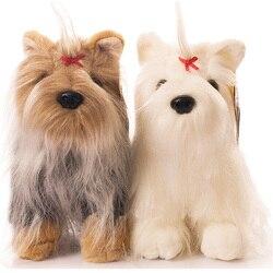 Fancytrader аниме плюшевый Йоркширский терьер, игрушка для собак, маленькие животные, кукла для собак из Реалистичного меха 30 см 12 дюймов