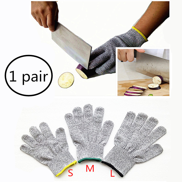 Cut Resistant Gloves Home Kitchen Work Food Contact Safe Work Glove Safety Level 5 Protection Glove ...