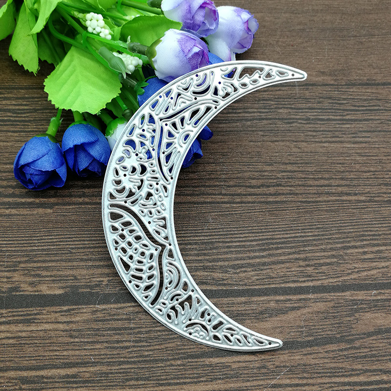 Moon lace out background Metal Die Cutting Dies Stencil Scrapbooking Photo Album Card Paper Embossing Craft DIYMoon lace out background Metal Die Cutting Dies Stencil Scrapbooking Photo Album Card Paper Embossing Craft DIY