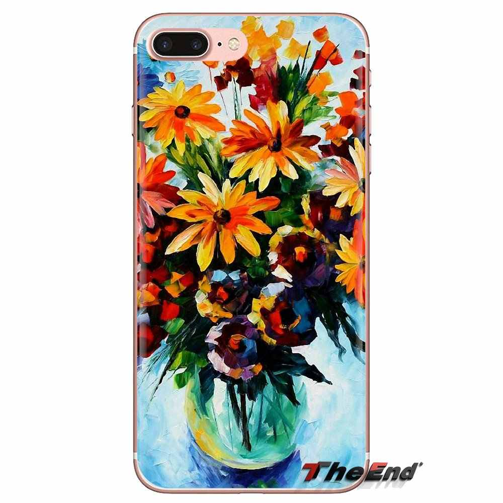 Transparent Soft Shell Covers Colorful Flowers Oil Painting For Xiaomi Redmi 4A S2 Note 3 3S 4 4X 5 Plus 6 7 6A Pro Pocophone F1