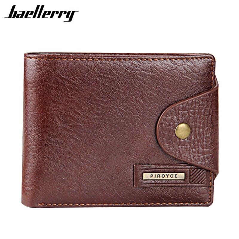 Baellerry Echtem Leder Marke Männer Brieftaschen Design Kurze Kleine Brieftaschen Männlichen Herren Geldbörsen Karte Halter Carteras mit Foto Halter